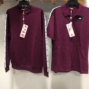 NWT Kappa 2 pc Set bundle of T Shirts tops L
